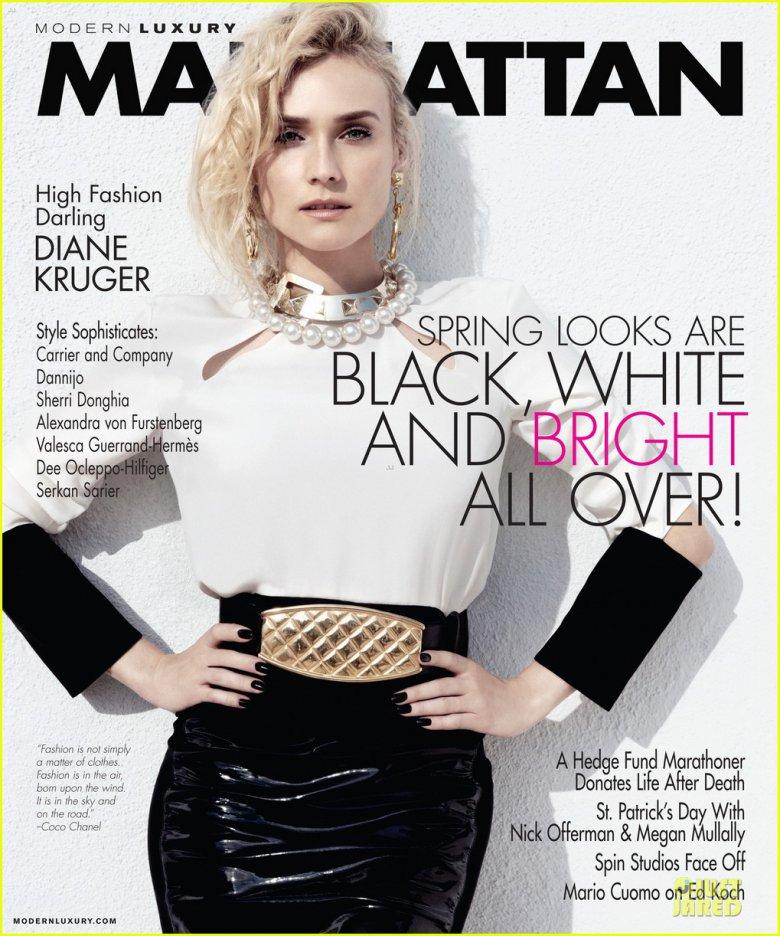 Диана Крюгер на обложке журнала Manhattan за март 2013 года