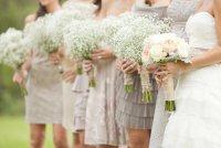 Букеты из гипсофилы на свадьбу