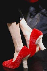 Меховые туфли от Celine