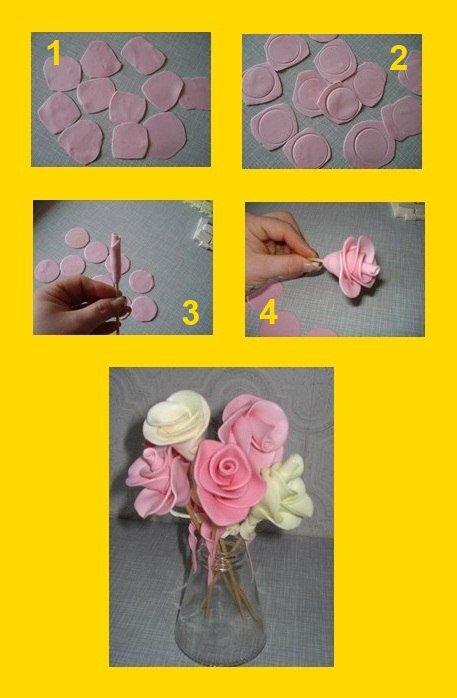 Цветы из конфет мамба