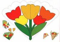 Шаблон поздравительной открытки на 8 Марта