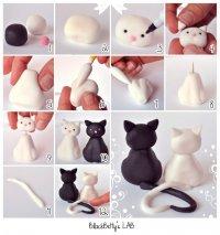 Фигурки из мастики: влюбленные коты