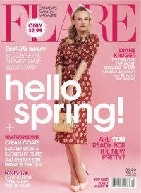 Диана Крюгер на обложке журнала Flare (апрель 2013)