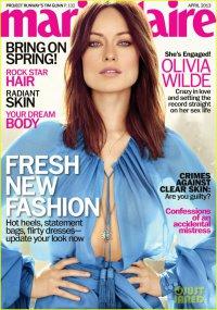 Оливия Уайлд на обложке журнала Marie Claire (апрель 2013)