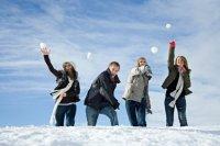 Конкурсы на Масленицу со снегом