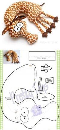 Подушка-игрушка своими руками: жираф