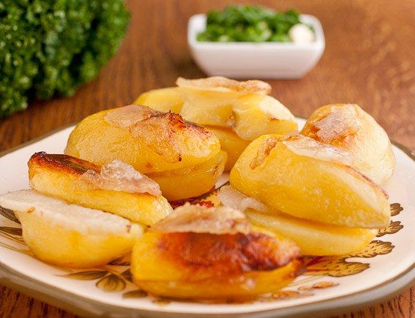 Блюда в пост: картофель в пакете