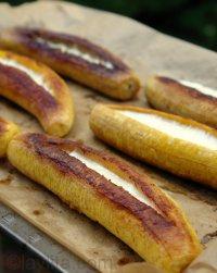 Бананы, запеченные с сыром