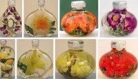 Декоративные бутылки с цветами