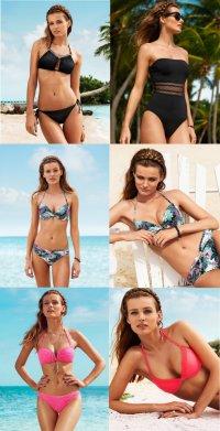 Мартовский лукбук H&M: купальники 2013
