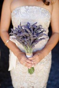 Идея для свадебного букета: лаванда