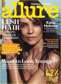 Кэти Холмс снялась топлесс для апрельского номера Allure