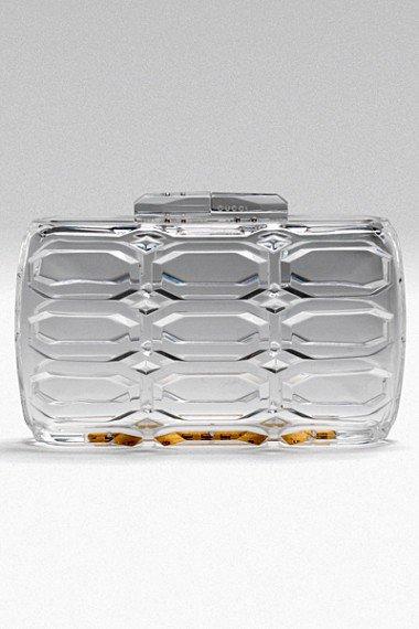 Прозрачный клатч от Gucci