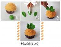 Идея для украшения капкейков: морковка