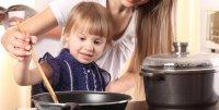 Ребенок на кухне: помеха или ваш помощник?