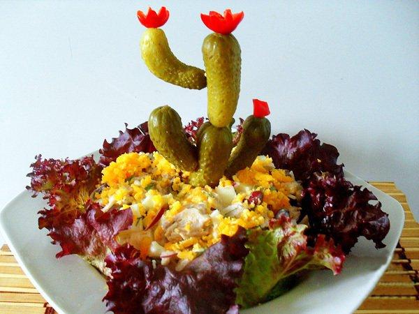 Салат «Цветущий кактус»
