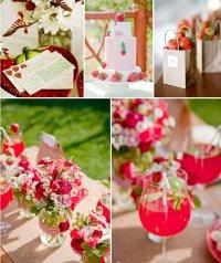 Клубничное вдохновение для свадьбы