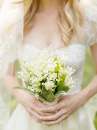 Свадебный букет из ландышей своими руками
