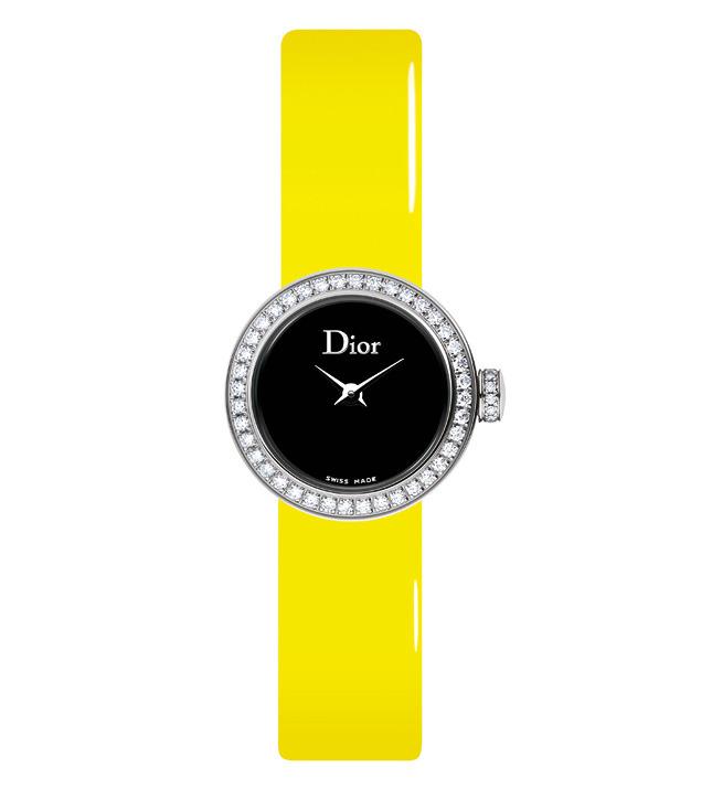 Часы La Mini D de Dior на флуоресцентных ремешках