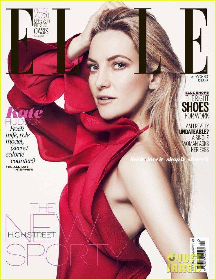 Кейт Хадсон на обложке Elle UK (май 2013)
