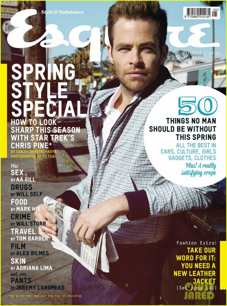 Крис Пайн на обложке Esquire UK (май 2013)