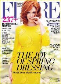 Кристина Хендрикс на обложке журнала Flare (май 2013)
