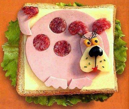 Идея для детского бутерброда на завтрак