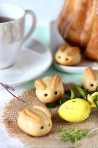 Пасхальные зайчата с марципаном