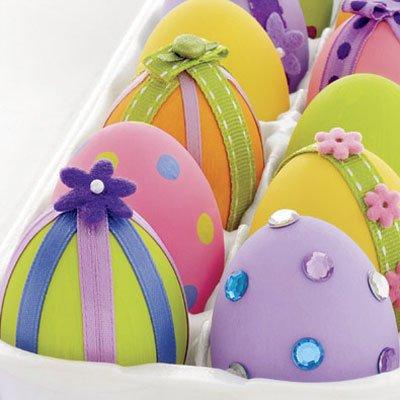 Идея декора пасхальных яиц