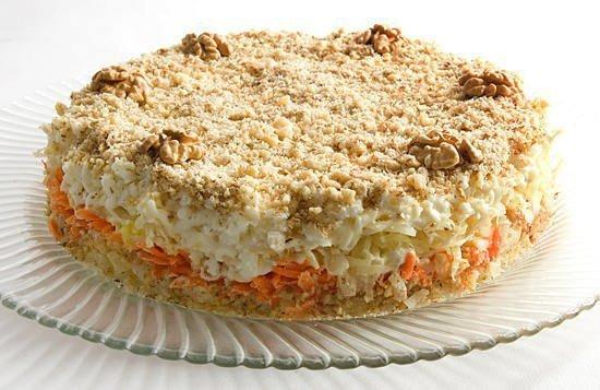 Салат-торт «Кремлевский»