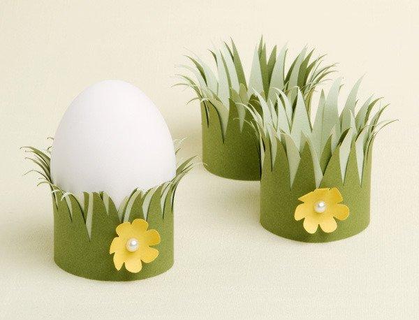 Бумажные подставки для пасхальных яиц