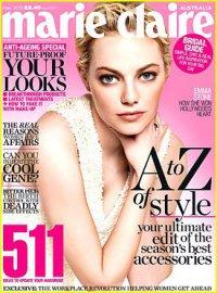 Эмма Стоун на обложке журнала Marie Claire Australia (май 2013)