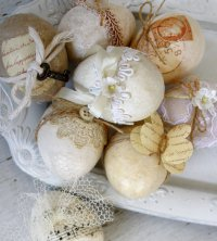 Винтажный декор пасхальных яиц