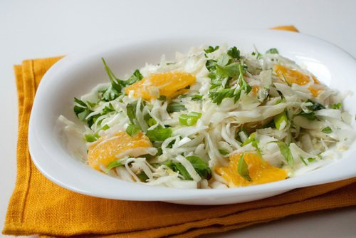 Салат из капусты и апельсинов