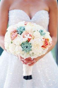 Как украсить букет невесты: суккуленты