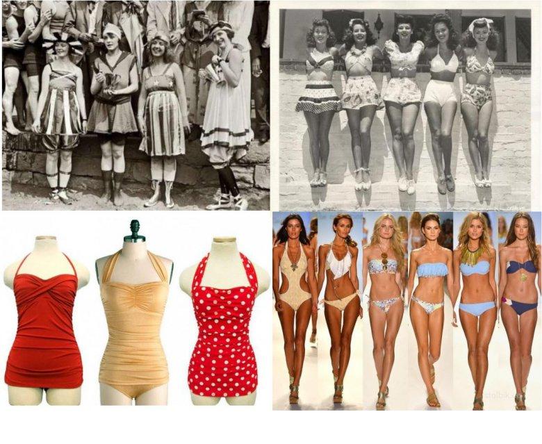 История пляжной моды