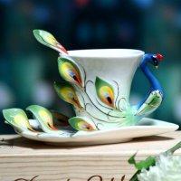 Чашка-павлин