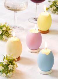Свечи из пасхальных яиц