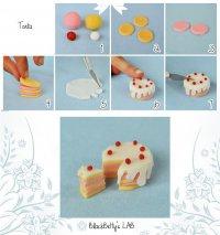 Фигурки из мастики: торт