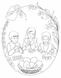 Раскраска для детей на Пасху