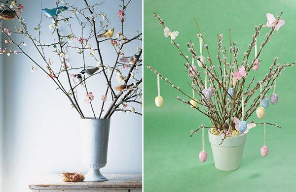 Пасхальный декор: деревья