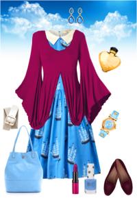 Сине-голубой цвет в одежде