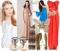 Платья на выпускной в греческом стиле и их цвета