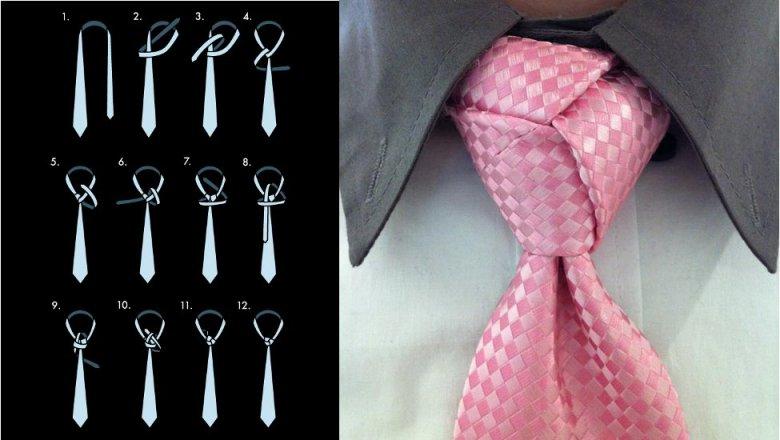 Как завязать тройной узел галстука