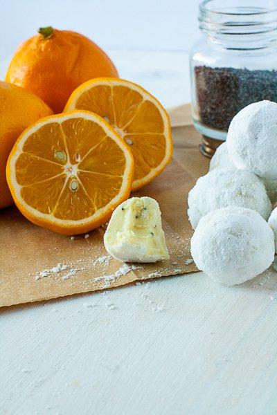 Лимонно-маковые трюфели