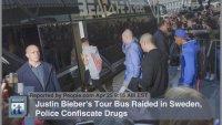 В концертном автобусе Джастина Бибера полиция нашла наркотики