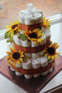 Идея оформления торта из подугзников