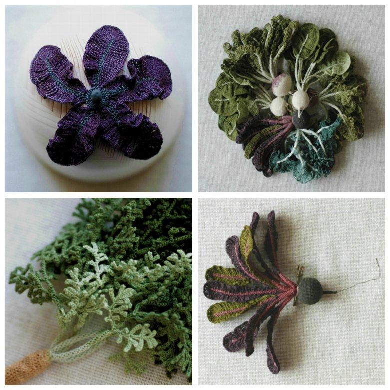 Овощи из ниток