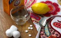Маска из аспирина и лимонного сока для устранения следов от прыщей