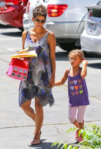 Хэлли Берри с дочерью Налой